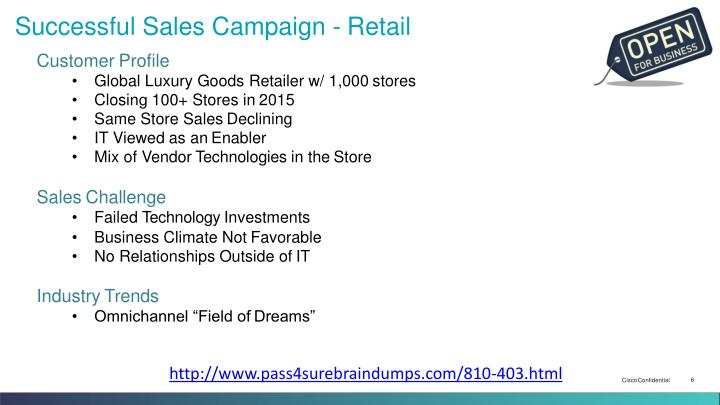 Successful Sales Campaign - Retail