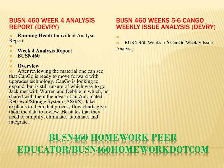 cango week 2 analysis report Cango week 1&2 analysis introduction strategy one, in review of cango's requirements, has spent the previous two weeks in discussions to learn and discover the business and needs of cango operations.
