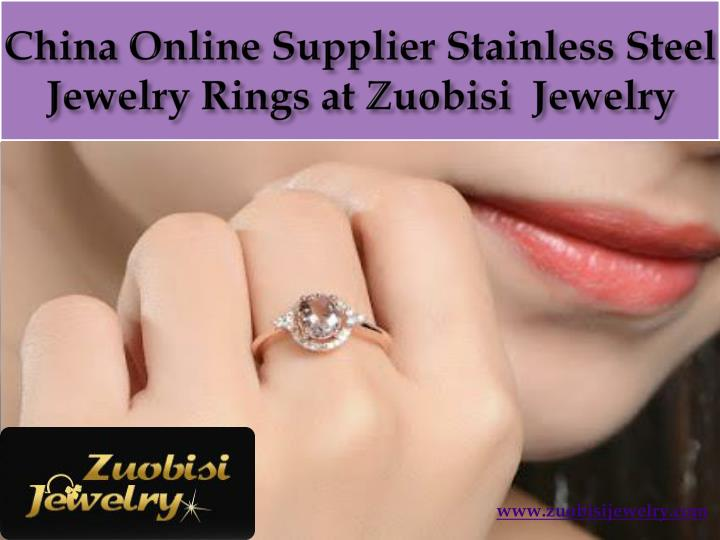 China online supplier stainless steel jewelry rings at zuobisi jewelry