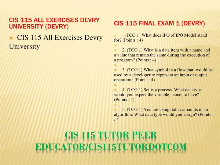 Cis 115 tutor peer educator cis115tutordotcom2