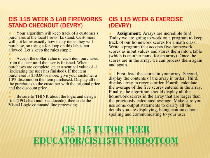 CIS 115 Week 5 Lab Fireworks Stand Checkout (