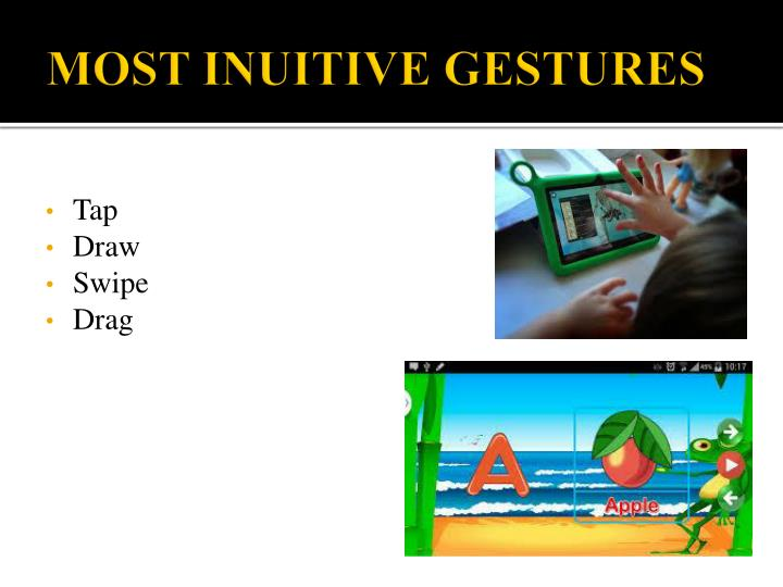 MOST INUITIVE GESTURES