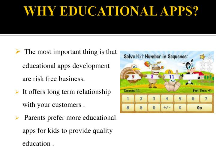 Why educational apps