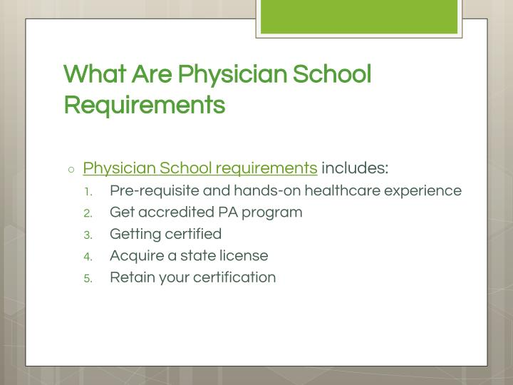 What Are Physician School Requirements