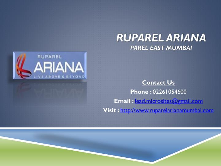 ruparel ariana parel east mumbai n.
