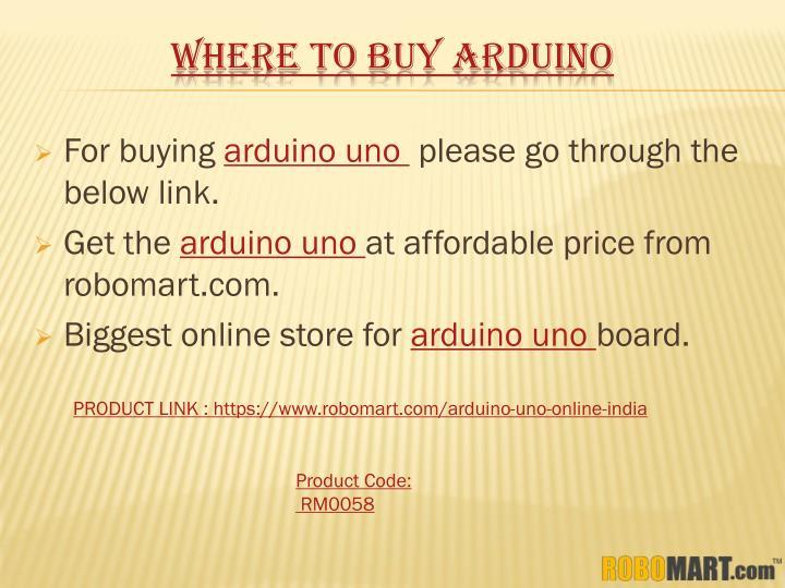 WHERE TO BUY ARDUINO