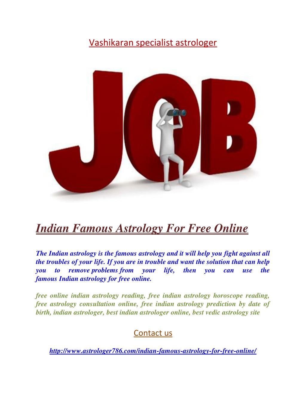 PPT - Indian Famous Astrology For Free Online PowerPoint