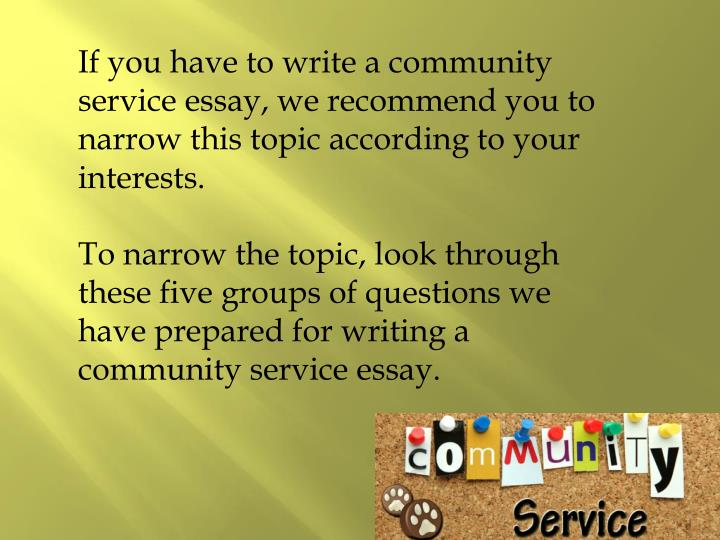 how to write a community service essay