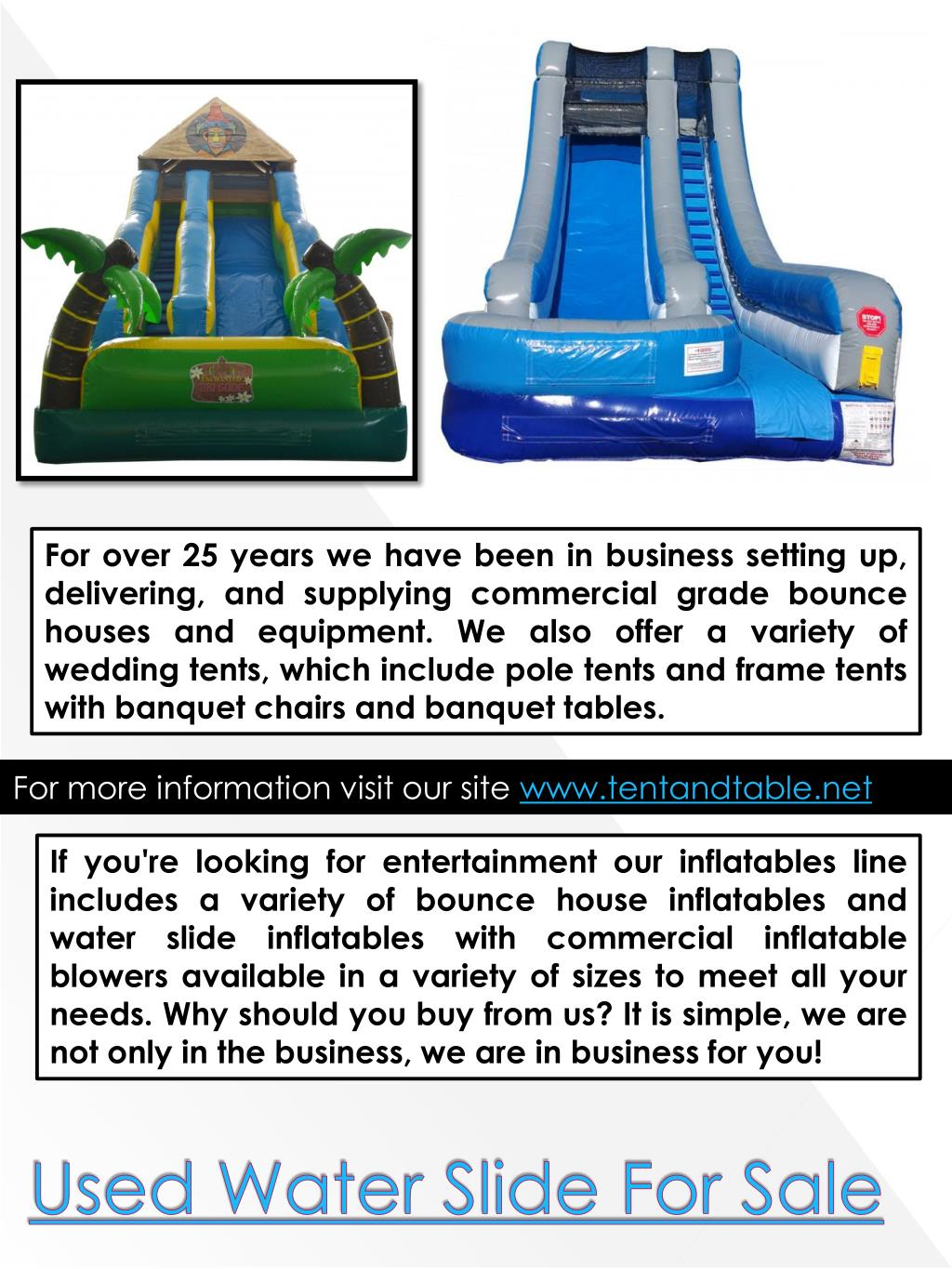 used commercial inflatable water slides for sale