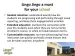 lingo jingo a must for your school