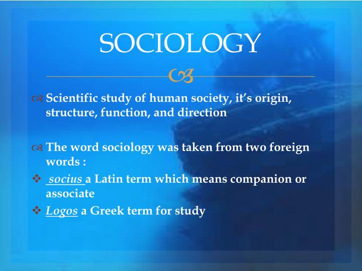 what is the nature of sociology
