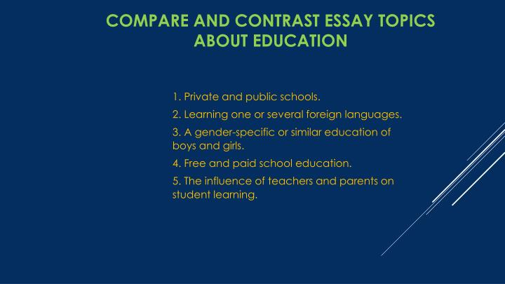 compare and contrast 12 essay