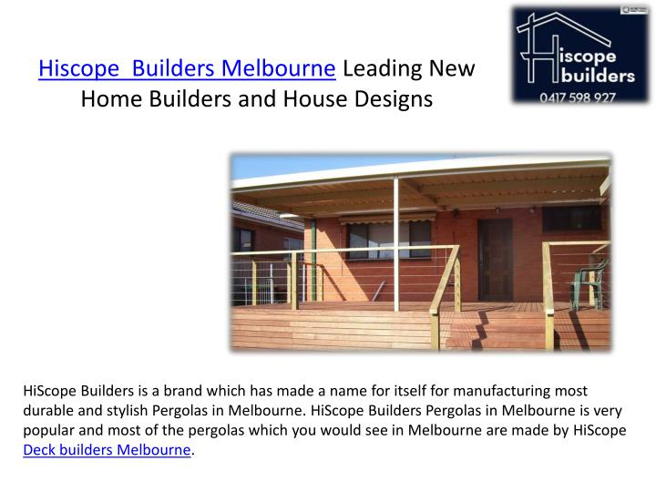 hiscope builders melbourne leading new home builders and house designs n.