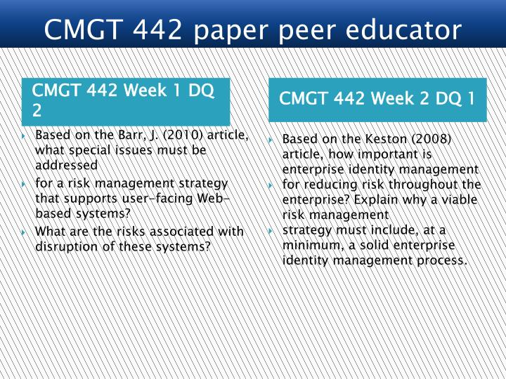 cmgt 442 week 3 paper