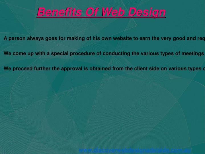 Benefits Of Web Design