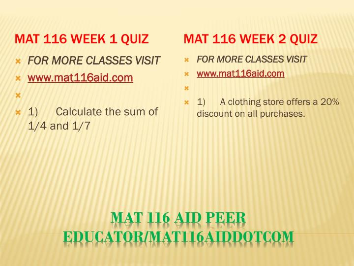 MAT 116 Week 1 Quiz