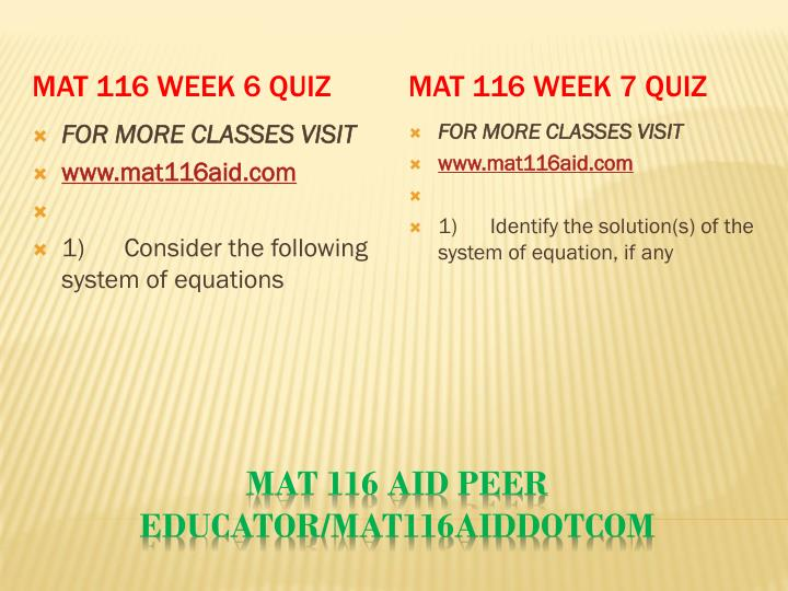 MAT 116 Week 6 Quiz