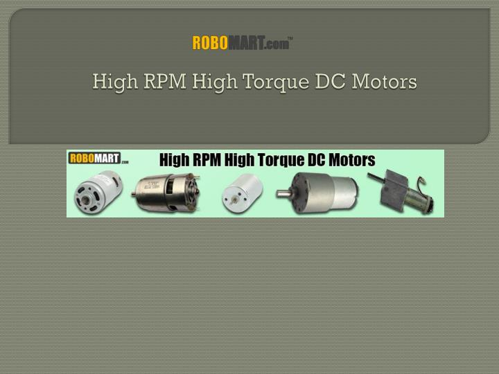 high rpm high torque dc motors n.