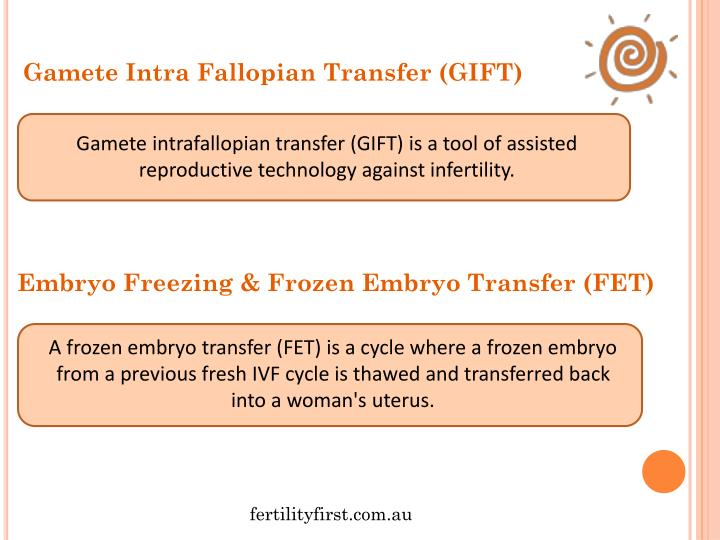 Gamete Intra Fallopian Transfer (GIFT)