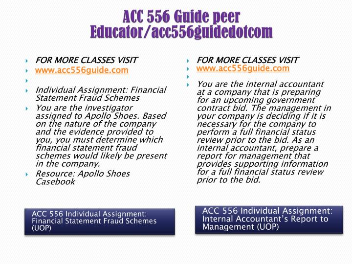 ACC 556 Guide peer Educator/acc556guidedotcom