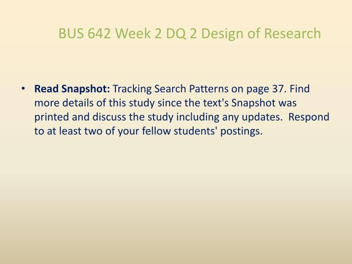 read snapshot tracking search patterns on page 37
