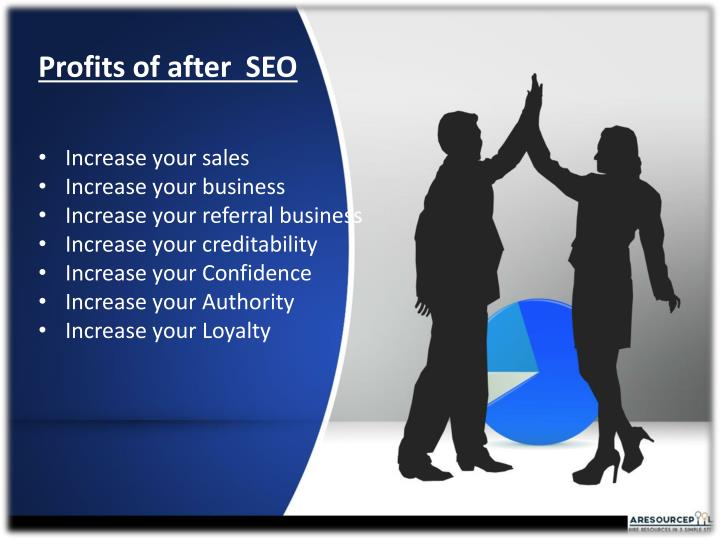 Profits of after  SEO