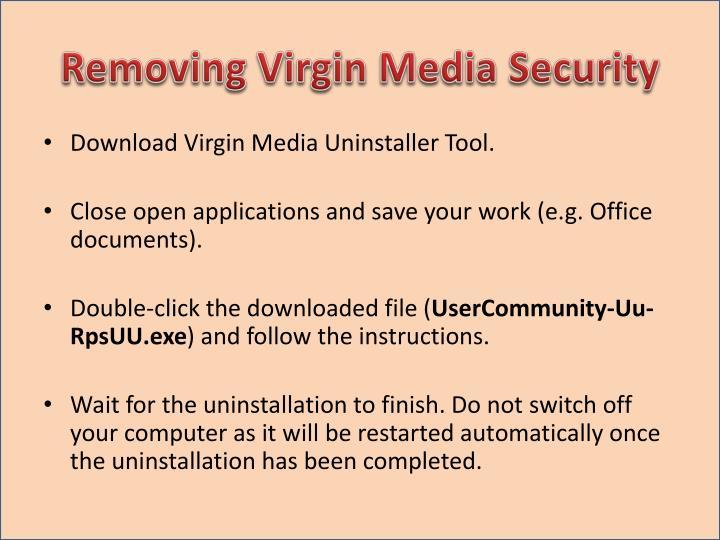 Removing Virgin Media