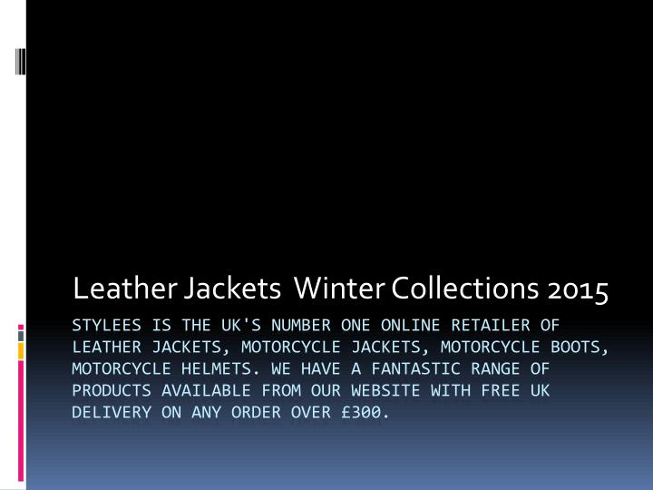 leather jackets winter collections 2015 n.