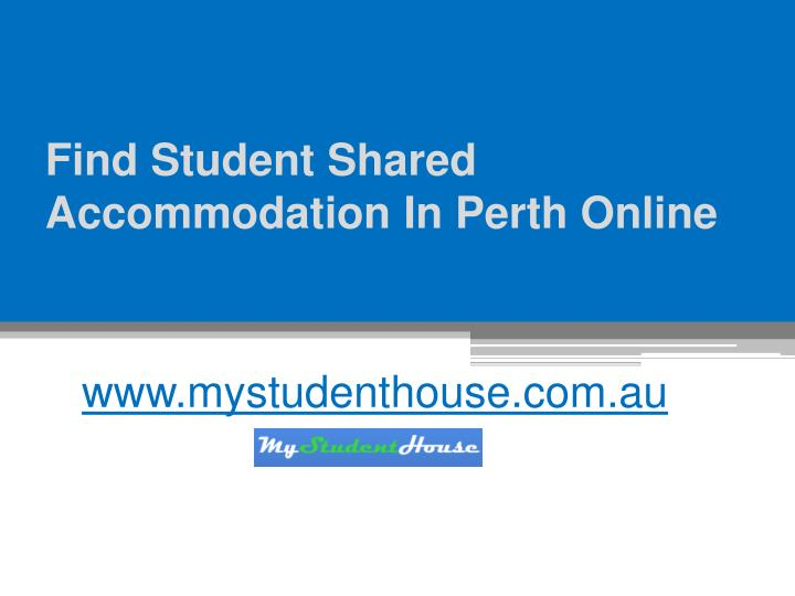 find student shared accommodation in perth online n.