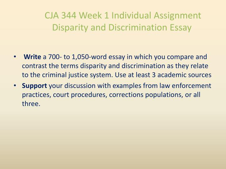 disparity and discrimination in the criminal justice system essay