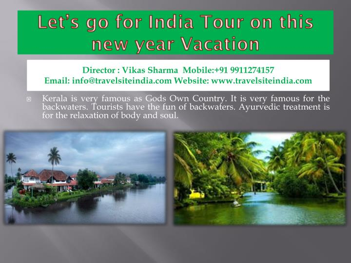 Let s go for india tour on this new year vacation2