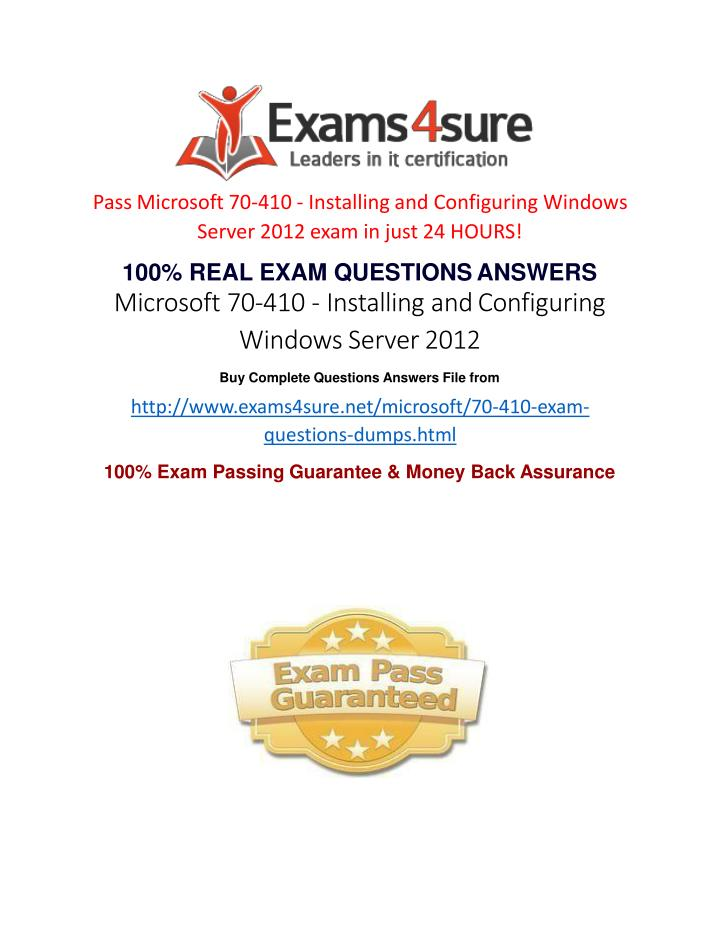 Ppt 70 410 Practice Exam Questions Powerpoint Presentation Id