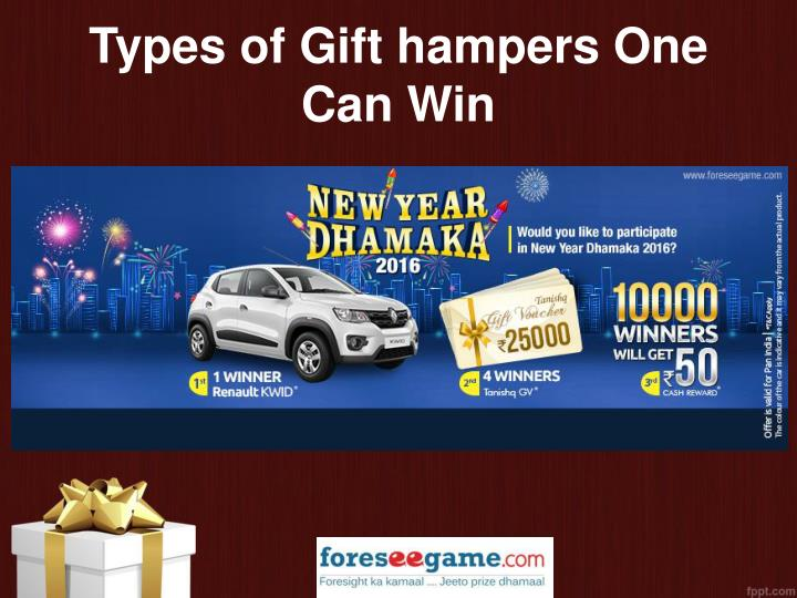 Types of Gift hampers One Can Win