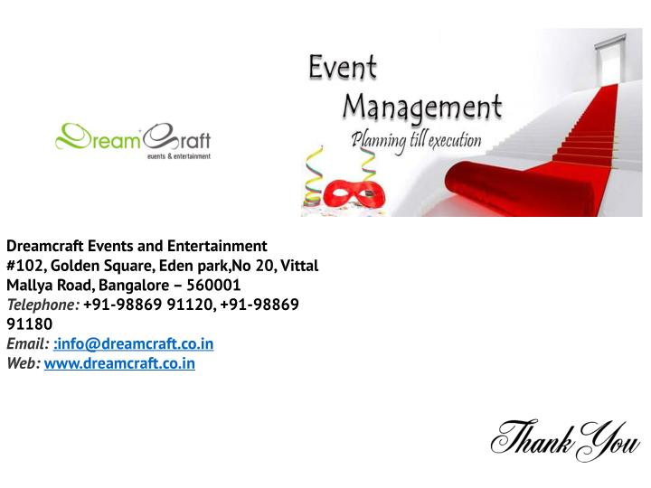 Dreamcraft Events and Entertainment