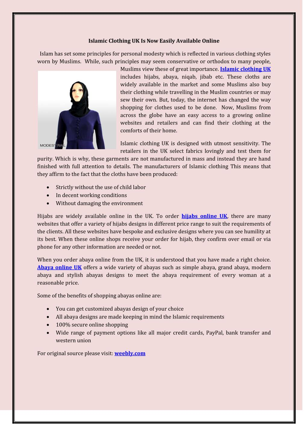 PPT - Islamic Clothing UK Is Now Easily Available Online PowerPoint