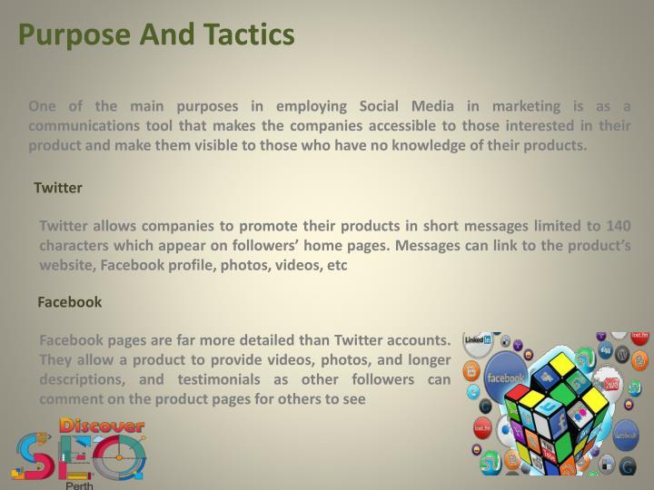 Purpose And Tactics