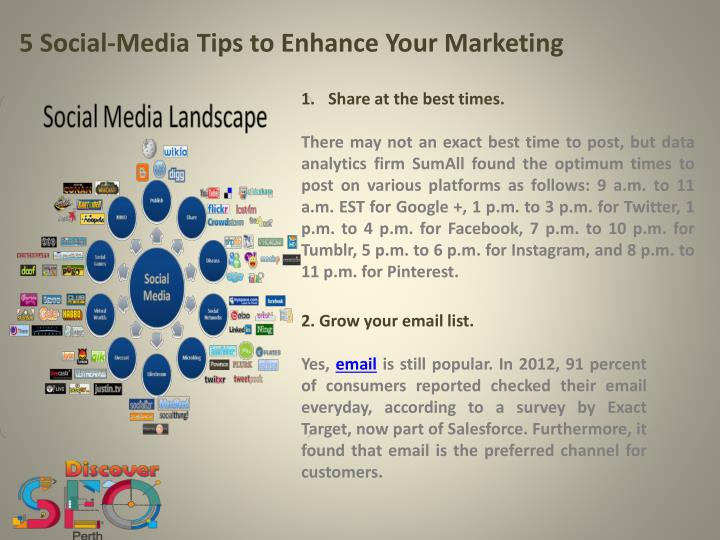 5 Social-Media Tips to Enhance Your Marketing