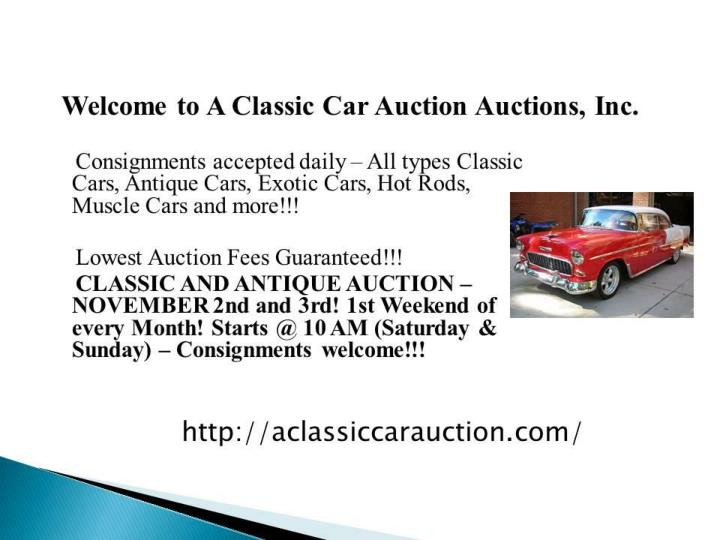 A classic car auction