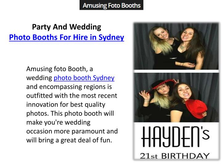 party and wedding photo booths for hire in sydney n.