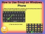 how to use emoji on windows phone