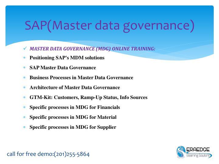 Sap master data governance1