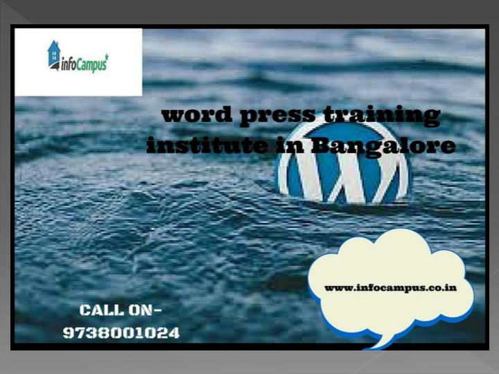 Wordpress training in bangalore call on 919738001024 7249863
