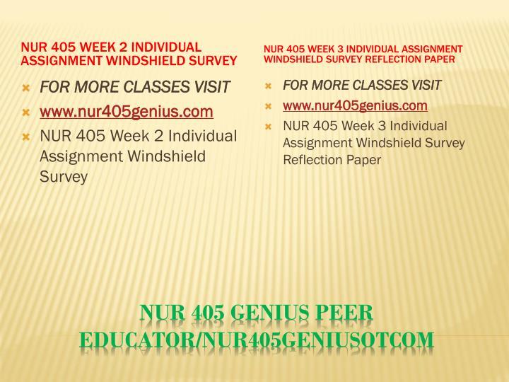 Nur 405 genius peer educator nur405geniusotcom2