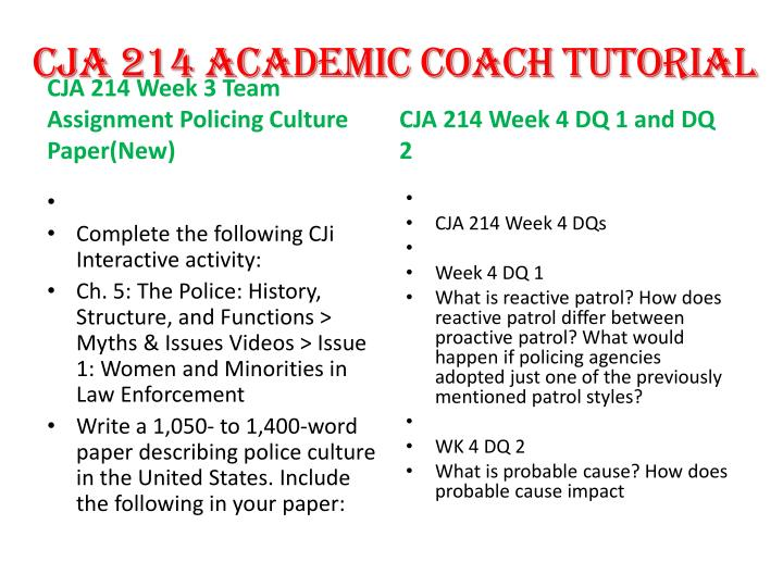 Cja 214 officer recruitment and selection