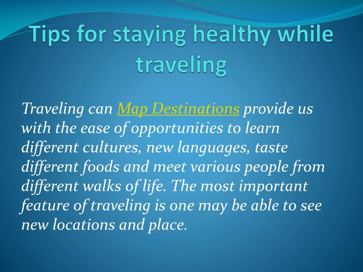 tips for staying healthy while traveling n.