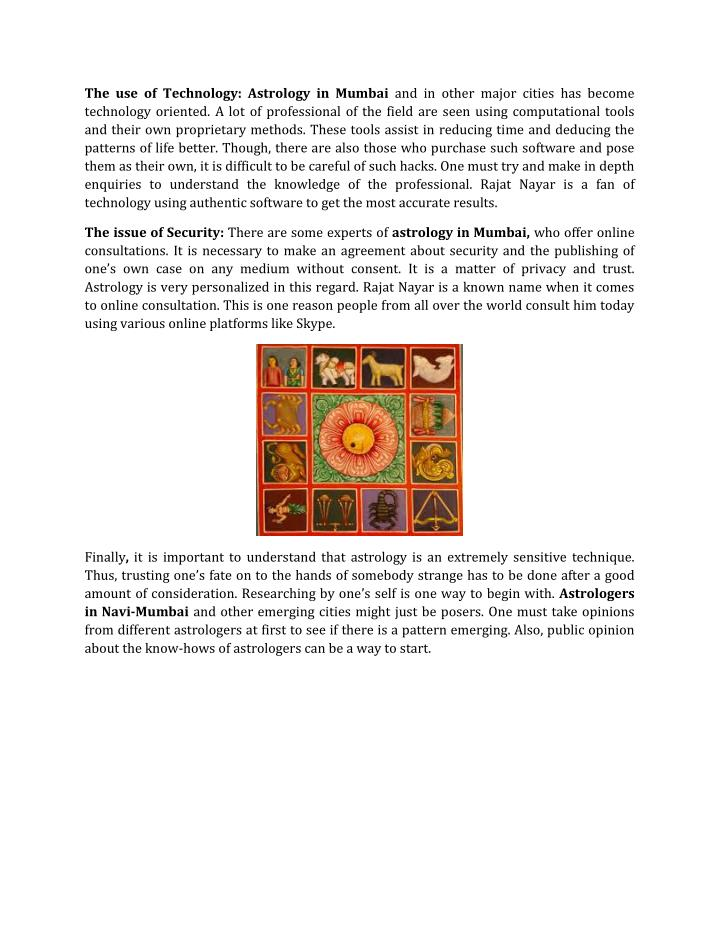 The use of Technology: Astrology in Mumbai