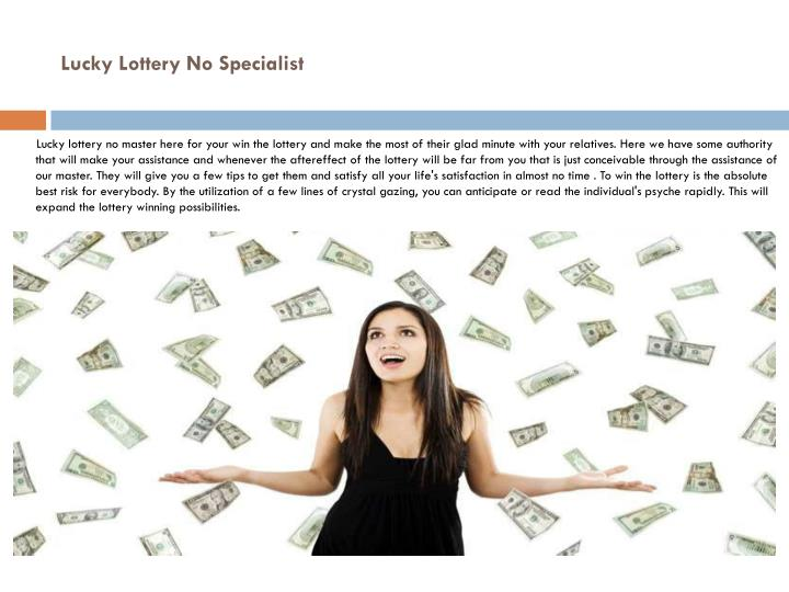 Lucky lottery no specialist1