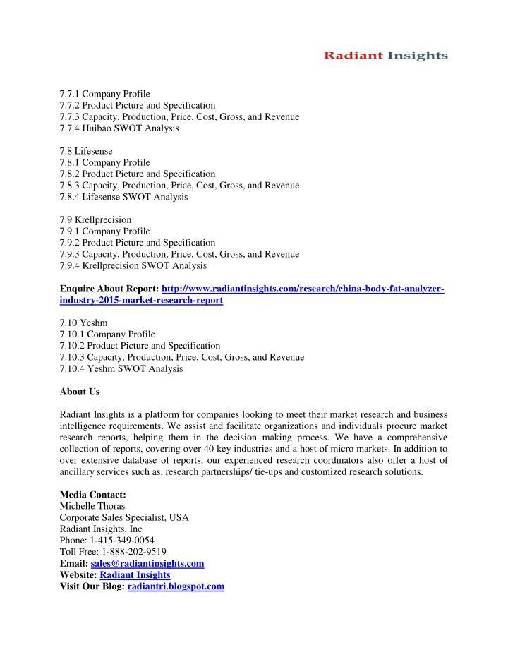 7.7.1 Company Profile