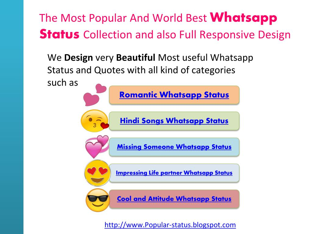 Ppt Widely Used Whatsapp Status And Quotes With All Categories