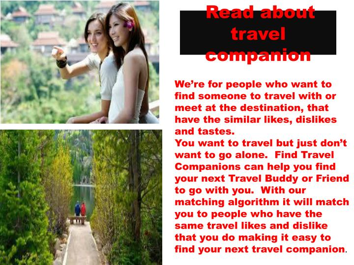 Read about travel companion
